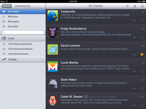 Twitterrific for iPad