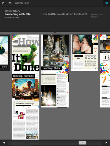 WIRED Magazine on iPad