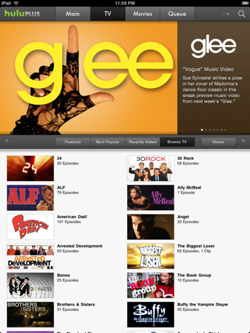 Hulu Plus for iPad