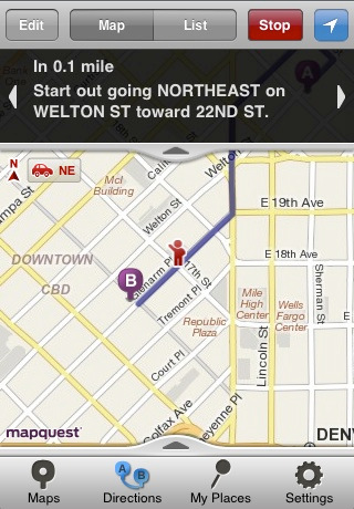 MapQuest 4 Mobile