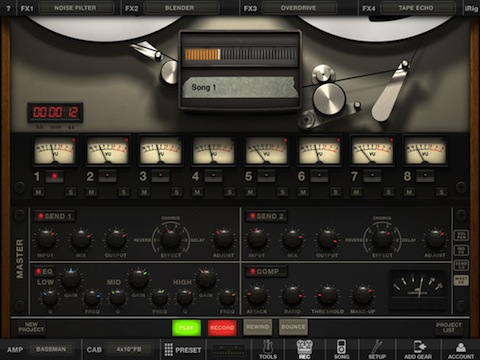 AmpliTube Fender for iPad Mixer