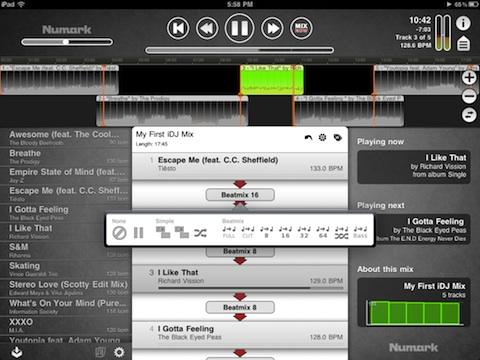 iDJ on the iPad 2