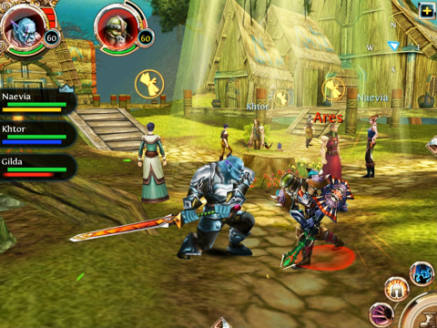 Order & Chaos Online - iPad gameplay