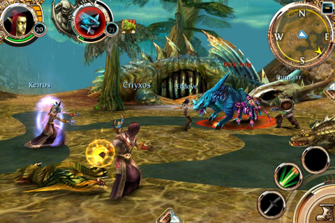 Order & Chaos Online - iPhone gameplay