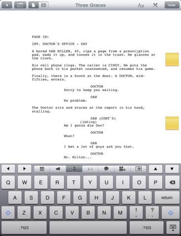 Storyist iPad app