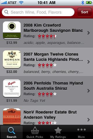 Nirvino Wine Ratings Guide for iPhone
