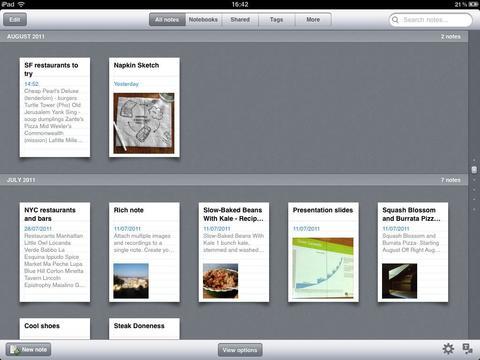 Evernote on the iPad