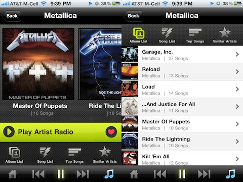 Kazaa iPhone app albums