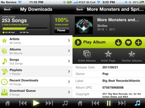 Kazaa iPhone app downloads