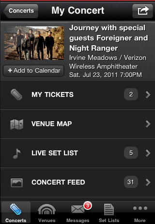 Live Nation for iPhone
