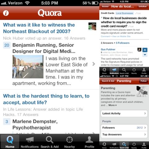 Quora iPhone app review