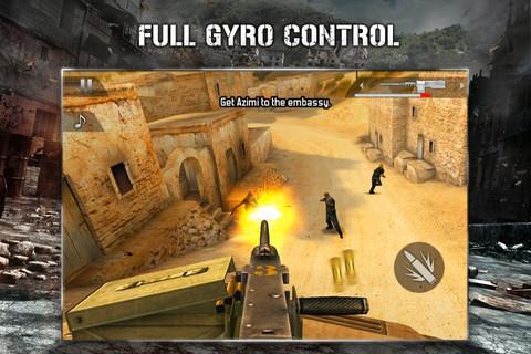 Modern Combat 2: Black Pegasus on the iPhone