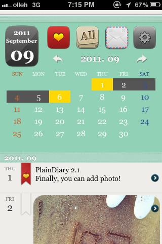 PlainDiary iPhone app