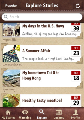 Storie iPhone app review