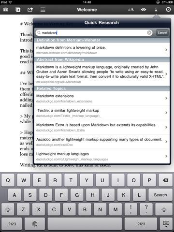 Writing Kit iPad app review