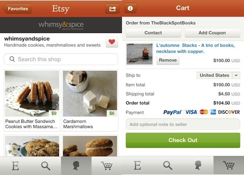 Etsy iPhone app review