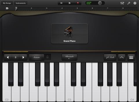 GarageBand for iPad Grand Piano