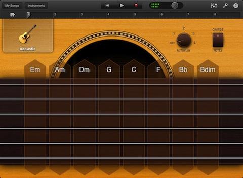 GarageBand for iPad Smart Guitar
