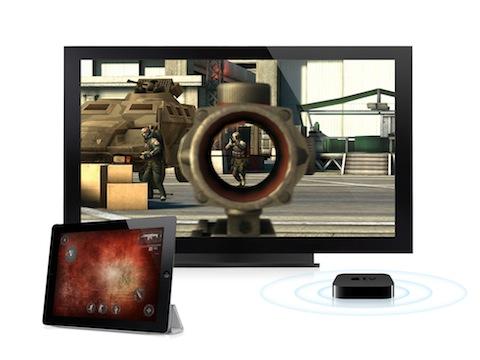 Modern Combat 3: Fallen Nation iPad app on a TV
