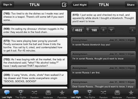 Texts From Last Night iPhone app review