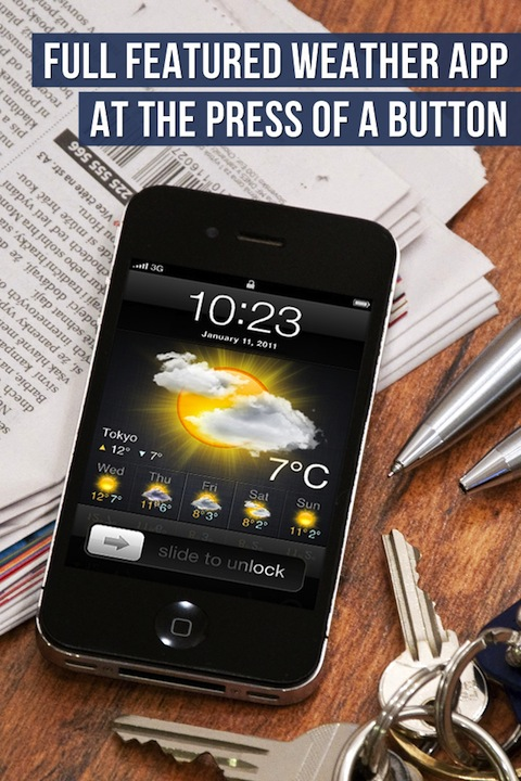 Lock Screen Weather iPhone app review