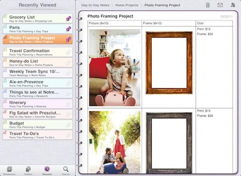 Microsoft OneNote for iPad
