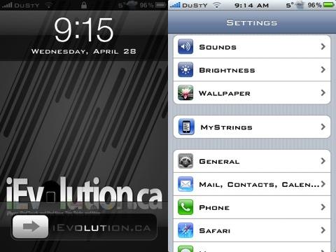 MyStrings jailbreak iPhone app review