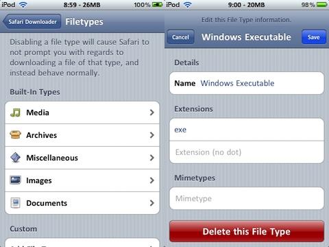 Safari Download Manager jailbreak iPhone app review