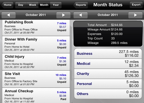 Trip Miles (Mileage log for Reimbursement or IRS) app review